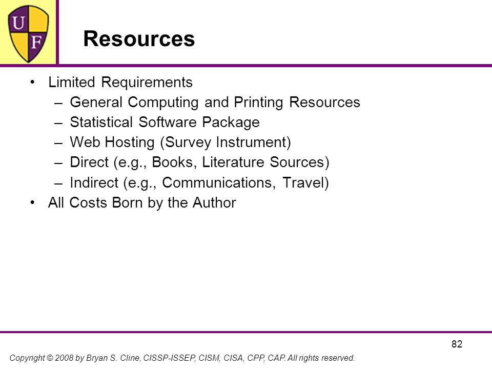 Resources Limited Requirements