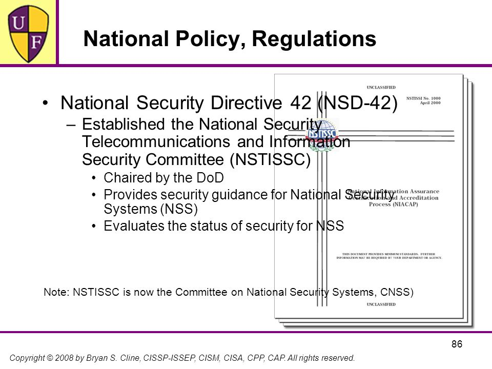 National Policy, Regulations