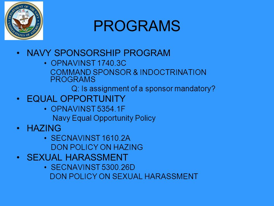 Navy equal opportunity sexual harassment survey