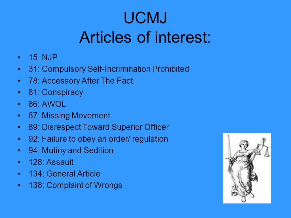 military ucmj article 15