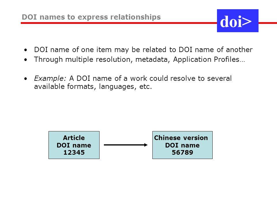 Resolve a DOI Name