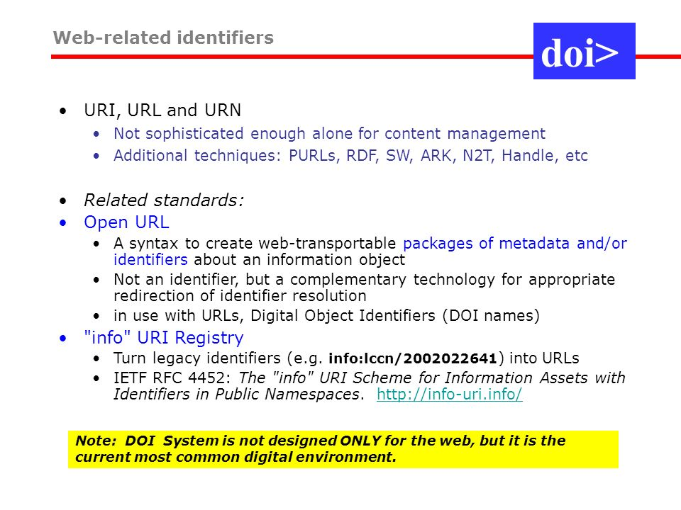Web-related identifiers