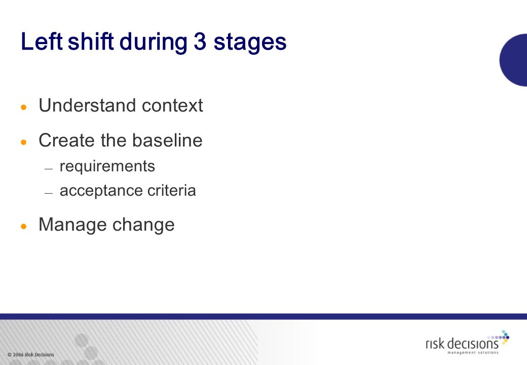 Left shift during 3 stages