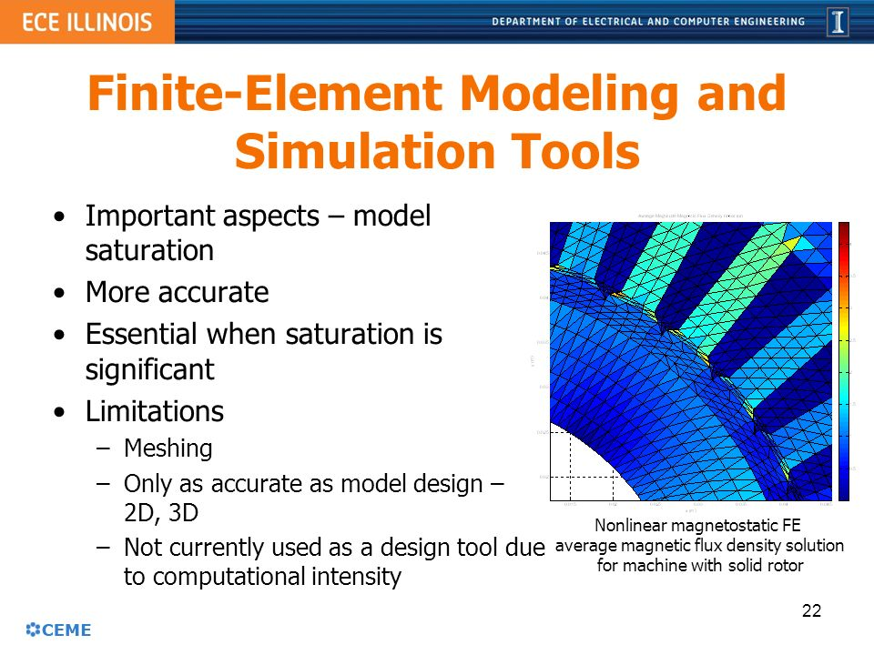 Aspects of permanent magnet machine design ppt video for Finite elemente modell