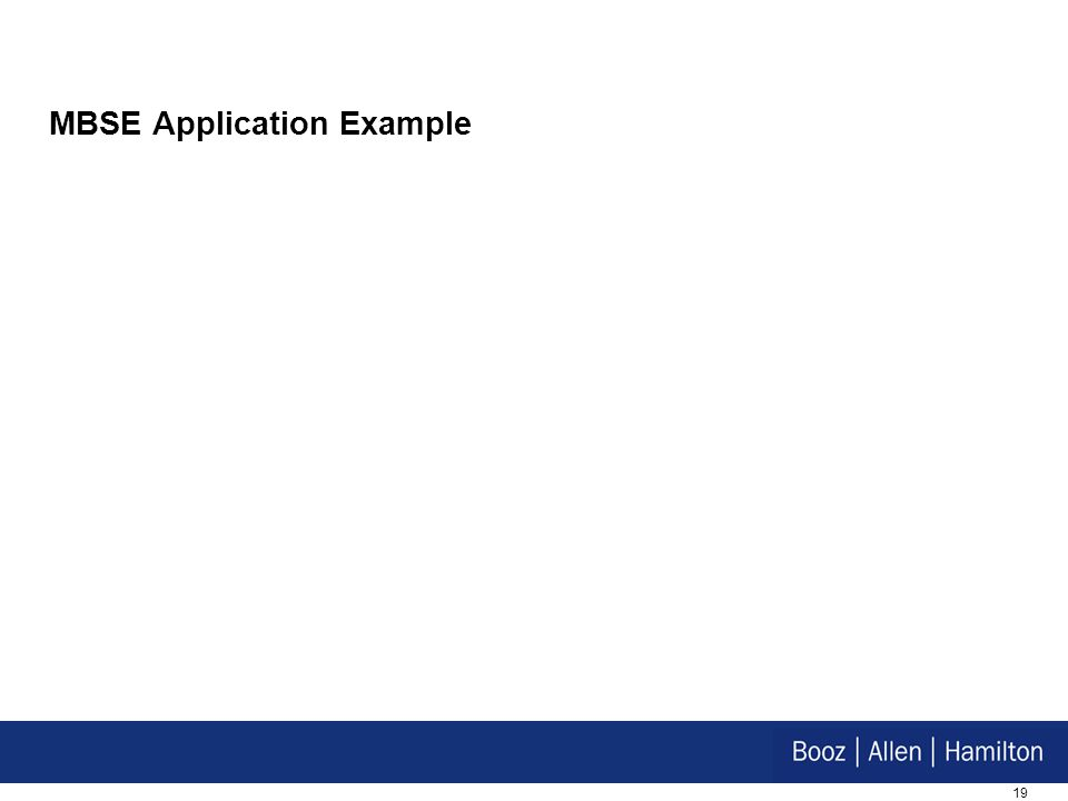 MBSE Application Example