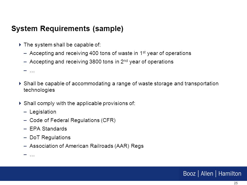 System Requirements (sample)