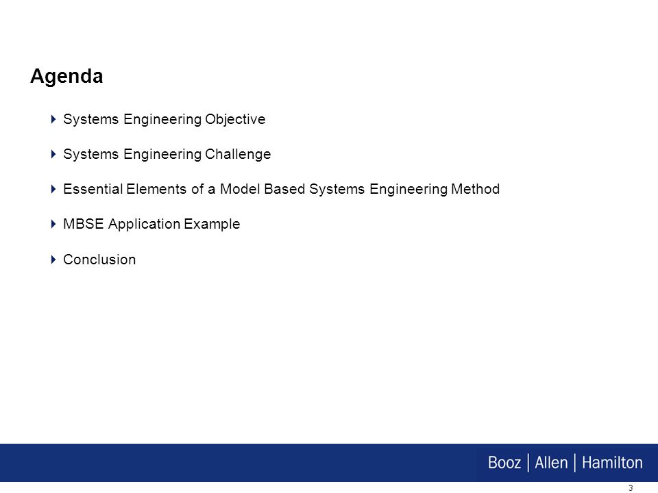 Agenda Systems Engineering Objective Systems Engineering Challenge