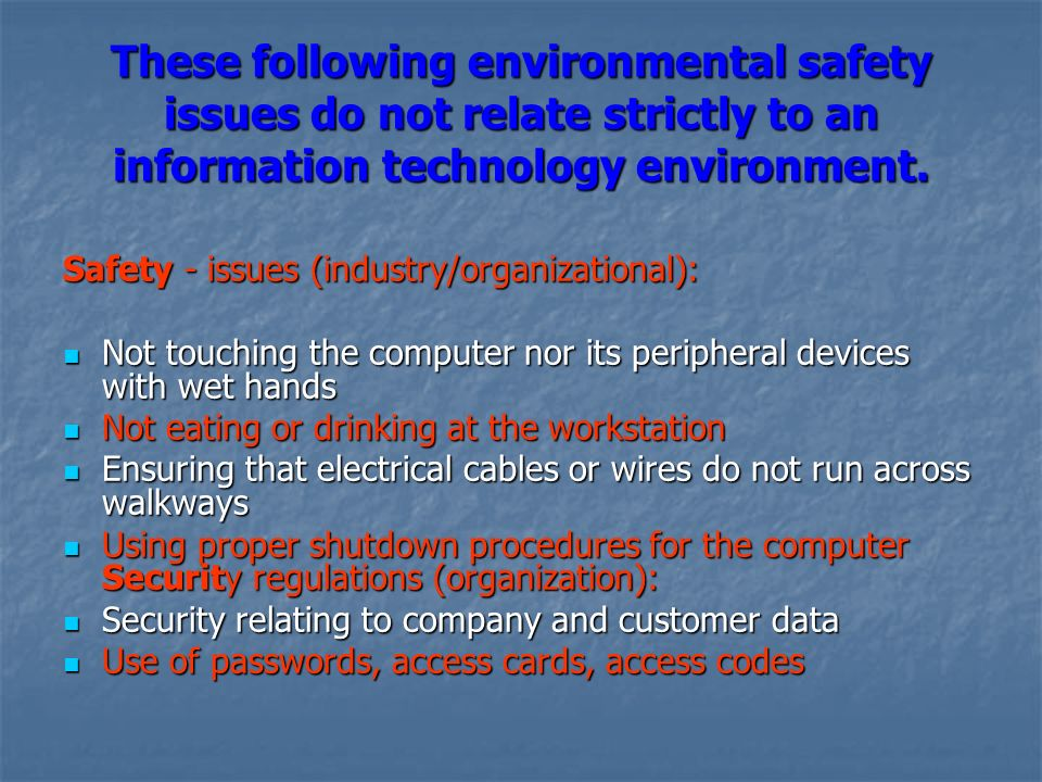 ict and environmental hazards Information and communication technologies for environmental sustainability (ict ensure) is a general term referring to the application of information and communication technologies (icts.