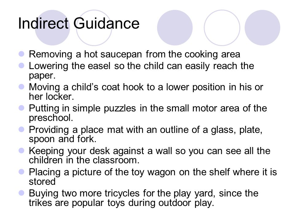 Guidance Direct And Indirect Actions Used By Caregivers
