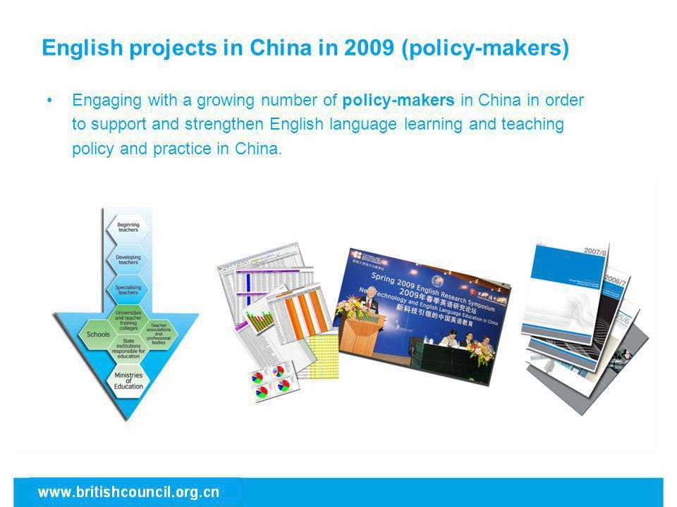 English projects in China in 2009 (policy-makers)