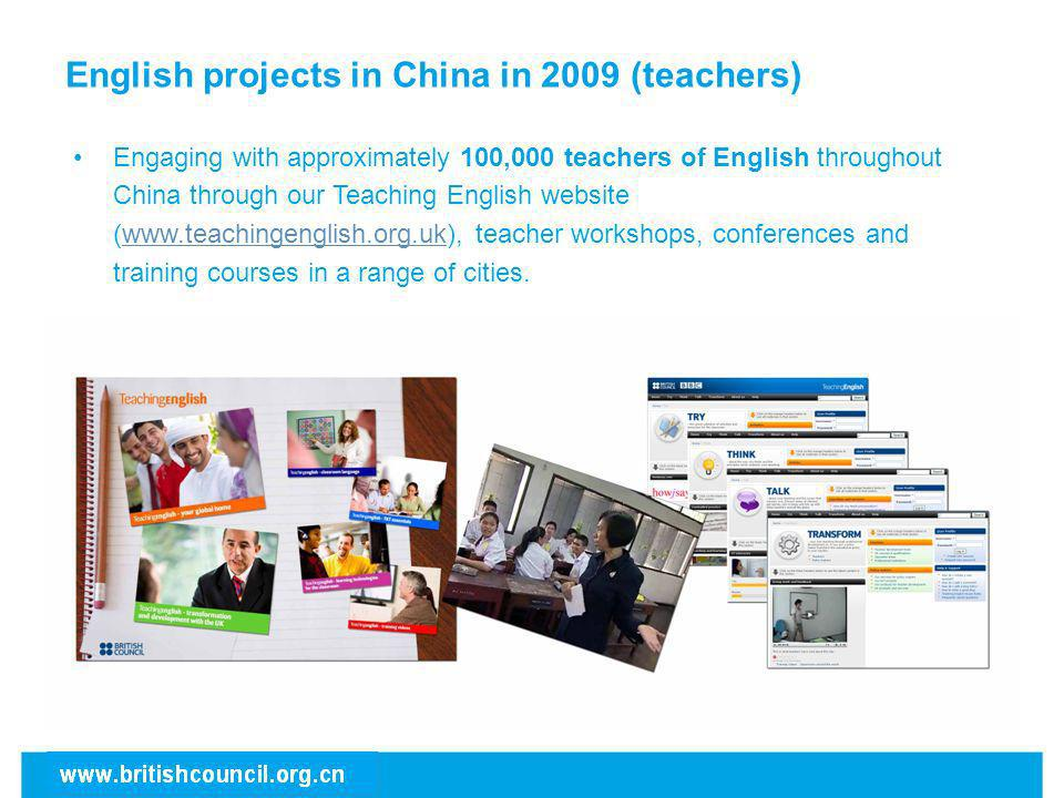 English projects in China in 2009 (teachers)