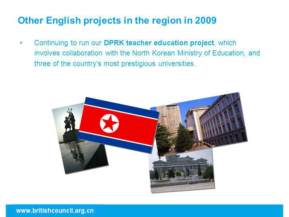 Other English projects in the region in 2009