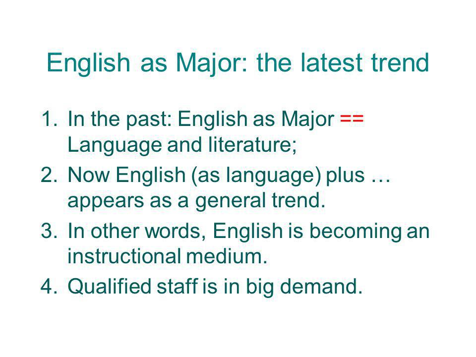 English as Major: the latest trend