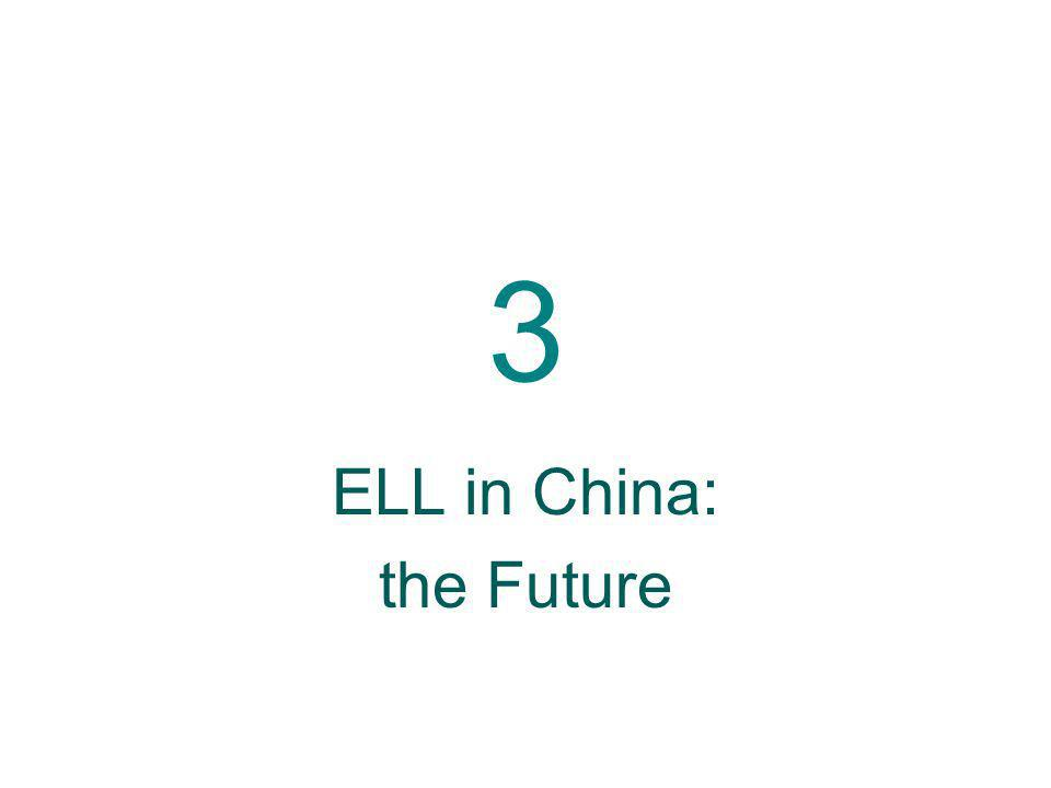 ELL in China: the Future
