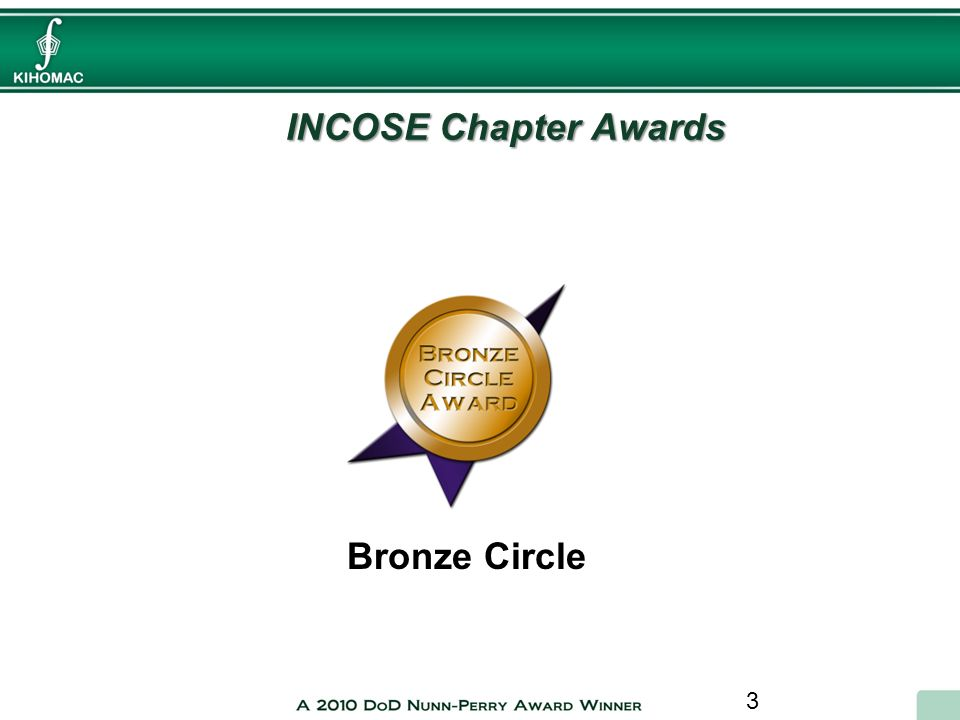 INCOSE Chapter Awards Bronze Circle
