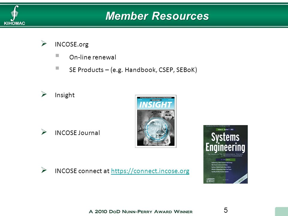 Member Resources INCOSE.org On-line renewal