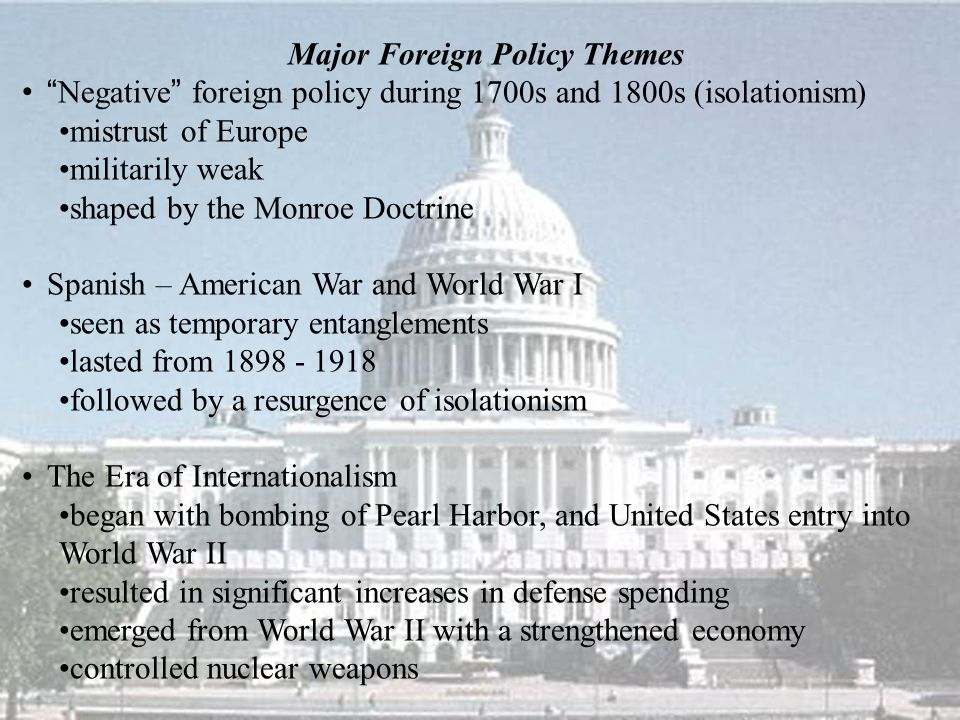 11a. Foreign Policy: What Now?