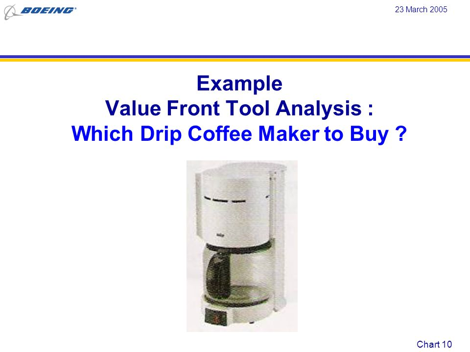 Value Front Tool Analysis : Which Drip Coffee Maker to Buy