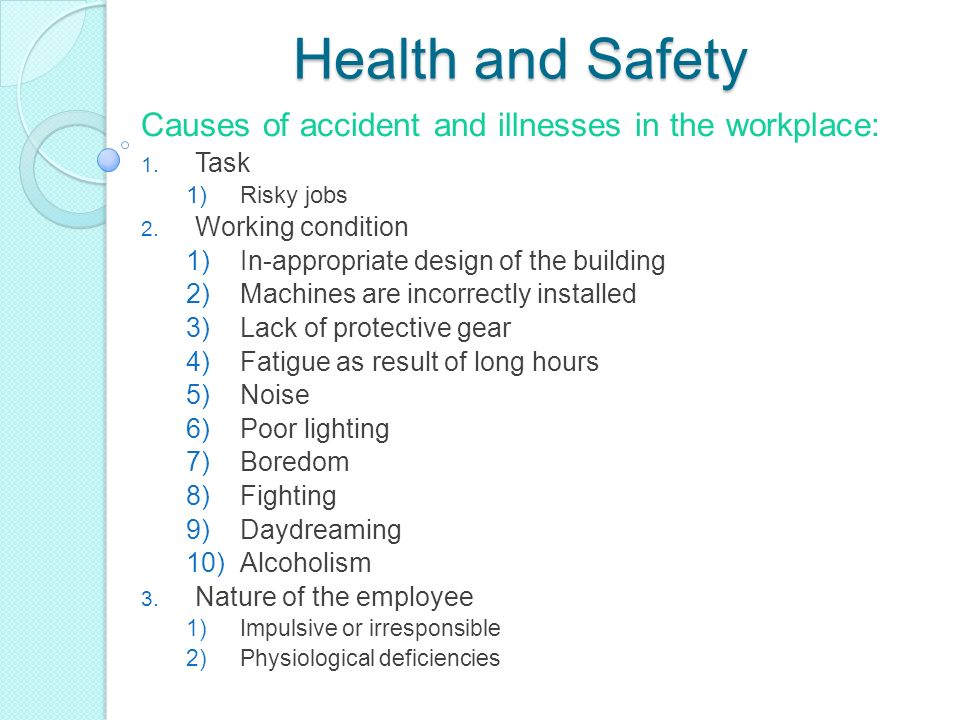 contemporary safety and health management issues in the workplace Workplace fridge safety how to examine contemporary safety & health management issues in the workplace the workplace must address contemporary safety.