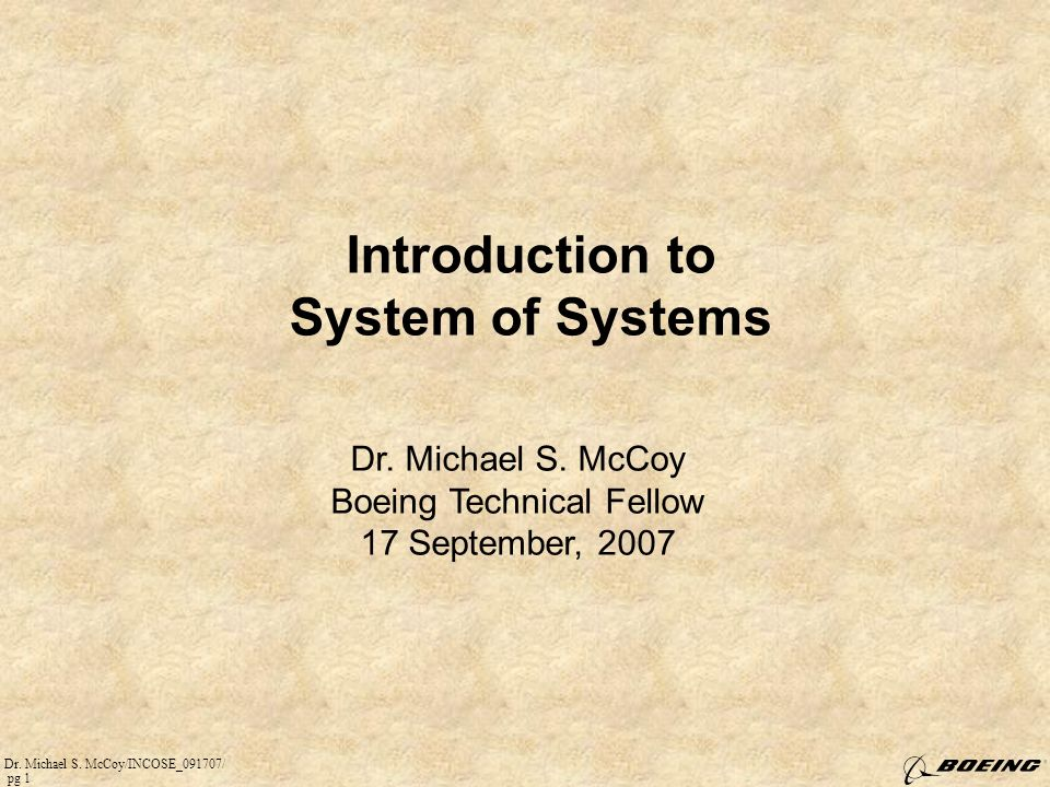 Introduction to System of Systems