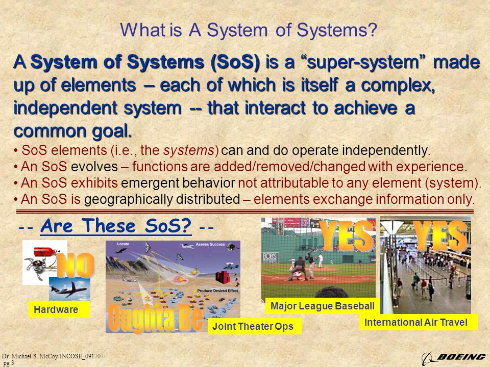 What is A System of Systems