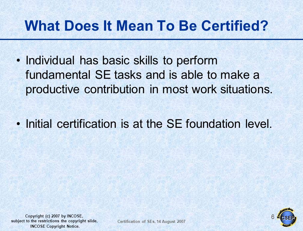What Does It Mean To Be Certified