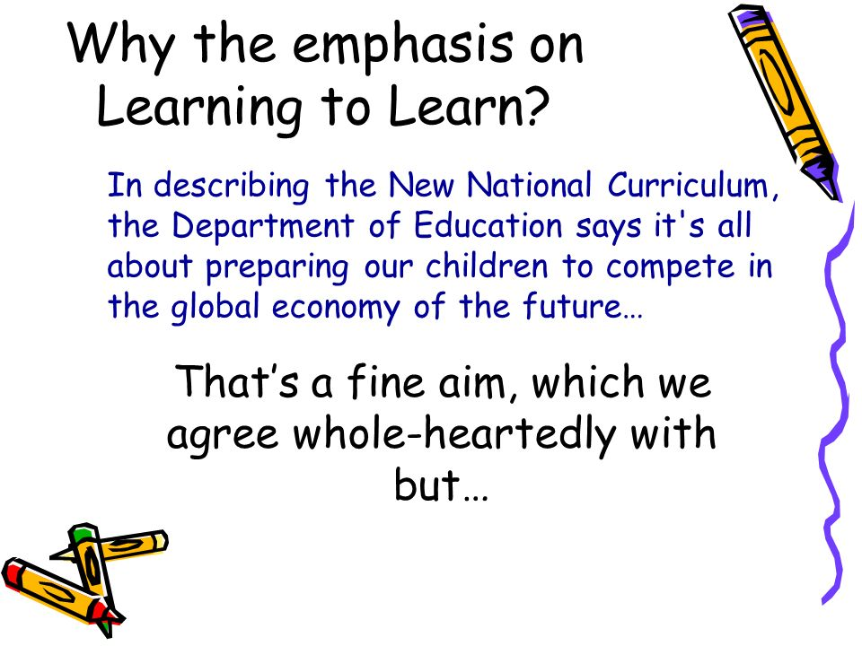 Why the emphasis on Learning to Learn