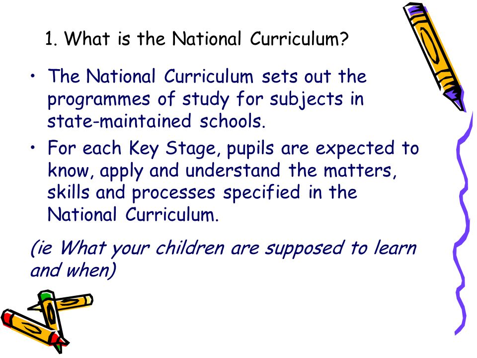 1. What is the National Curriculum