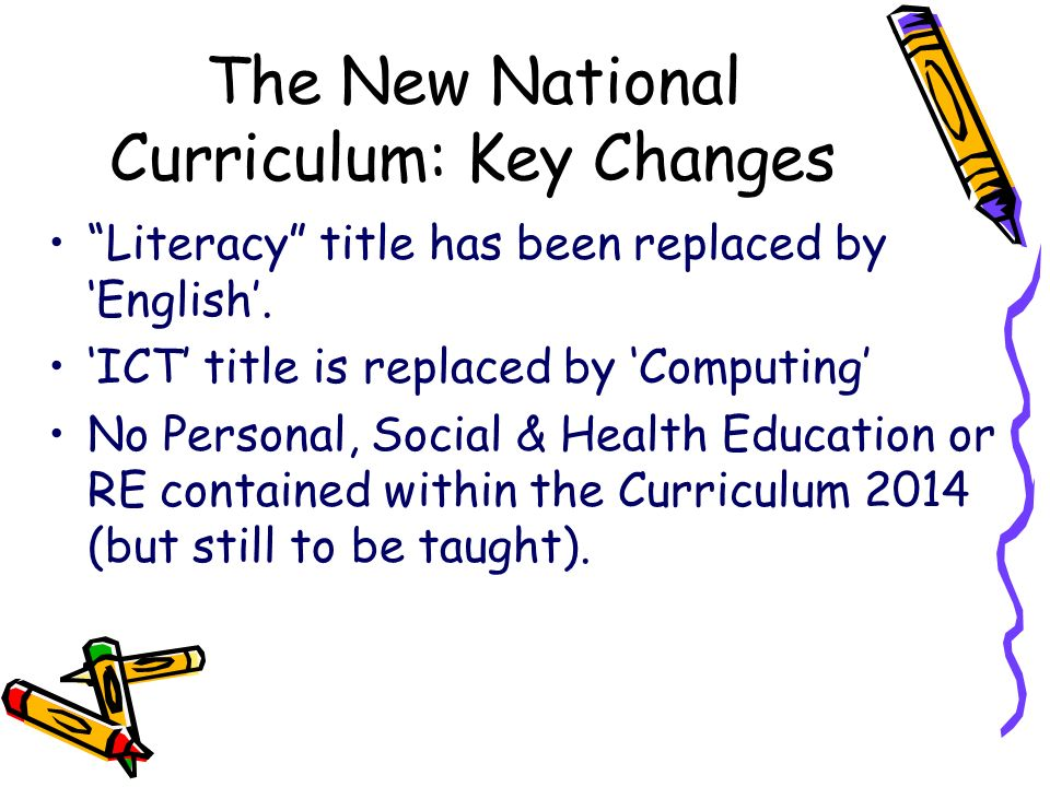The New National Curriculum: Key Changes