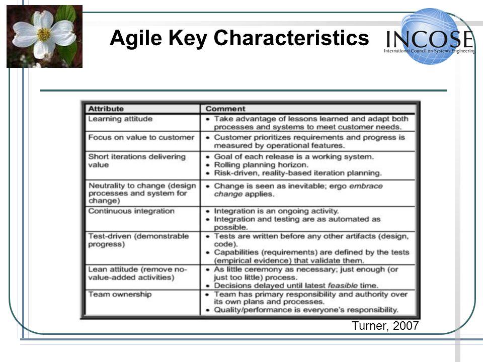 Agile Key Characteristics
