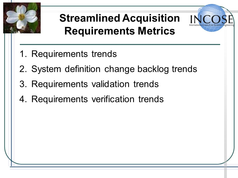 Streamlined Acquisition Requirements Metrics