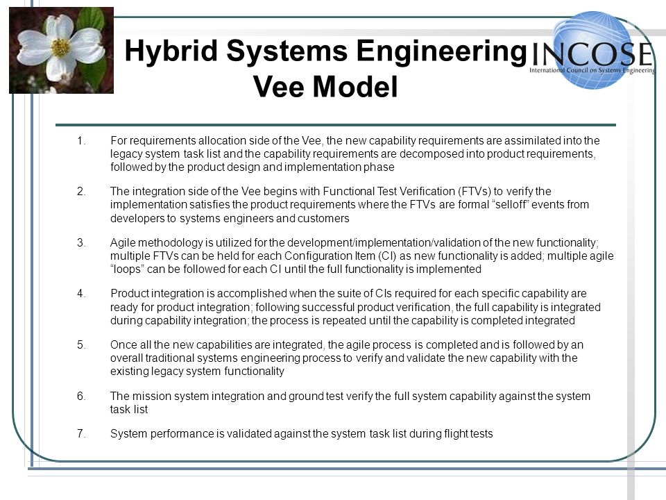 Hybrid Systems Engineering Vee Model