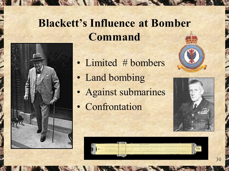 Blackett's Influence at Bomber Command
