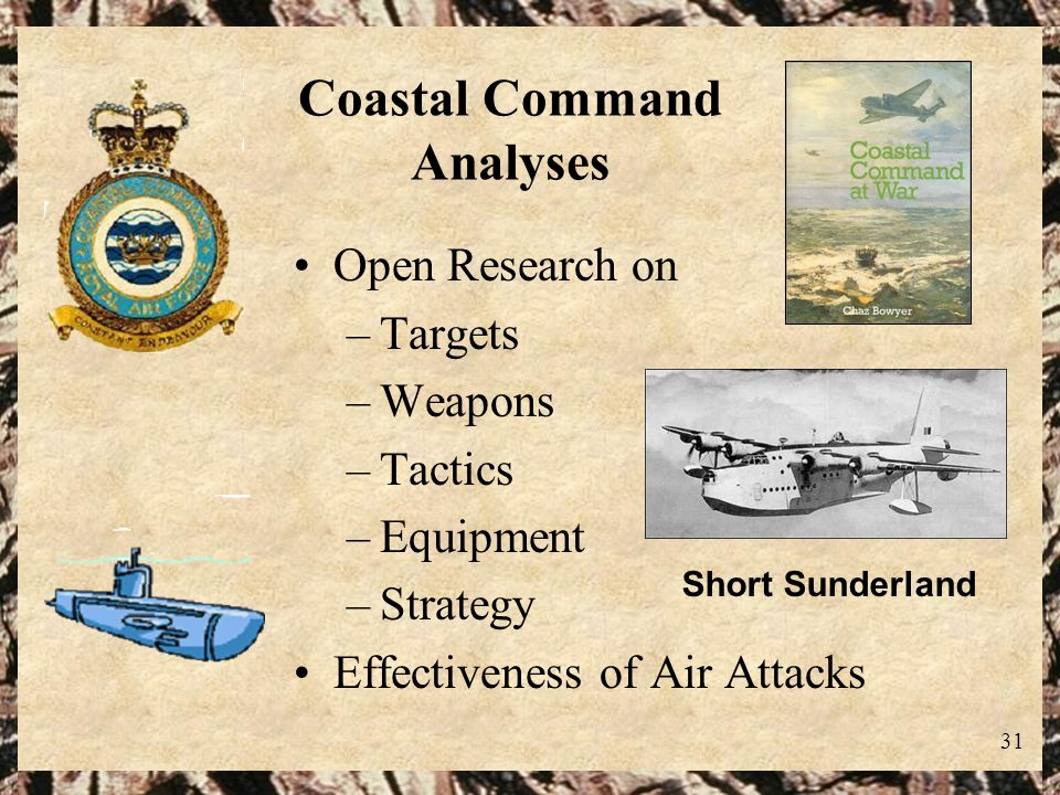 Coastal Command Analyses