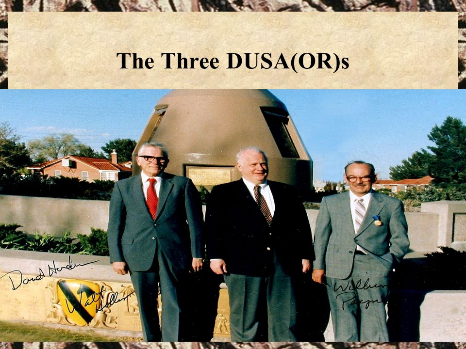 The Three DUSA(OR)s