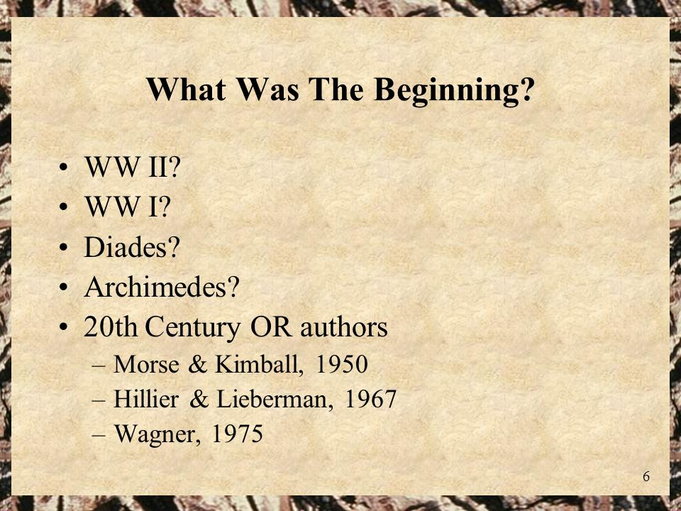 What Was The Beginning WW II WW I Diades Archimedes