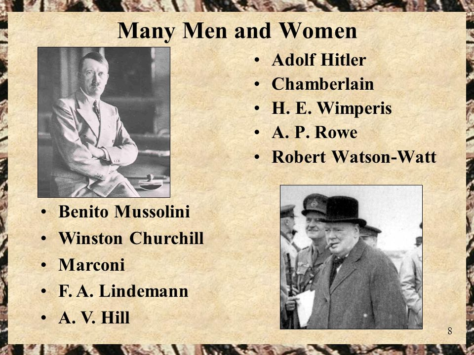 Many Men and Women Adolf Hitler Chamberlain H. E. Wimperis A. P. Rowe