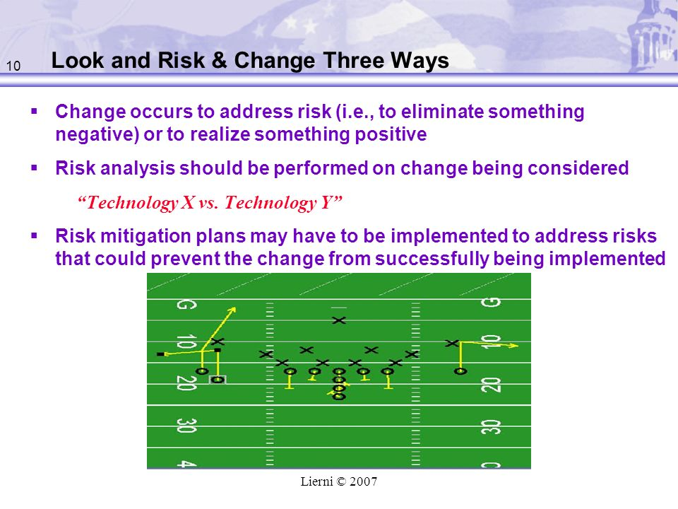 Look and Risk & Change Three Ways