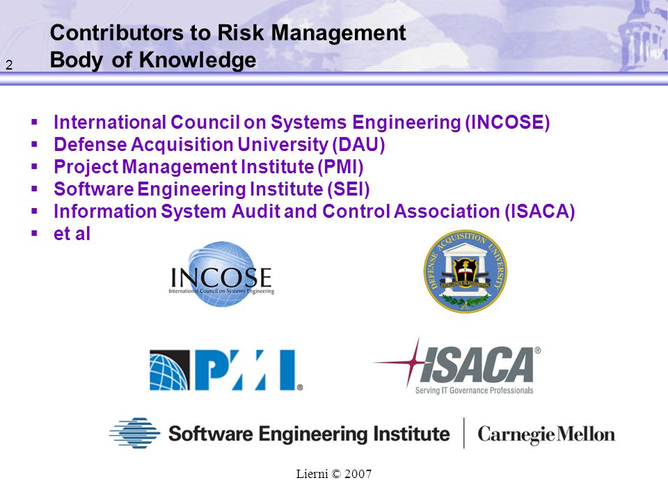 Contributors to Risk Management Body of Knowledge