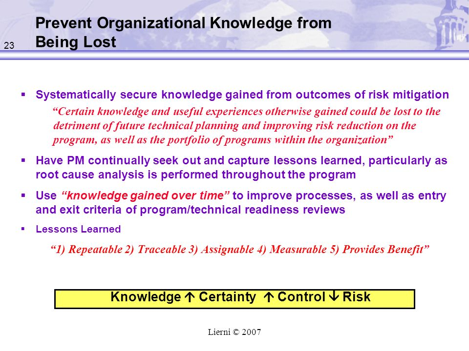 Prevent Organizational Knowledge from Being Lost