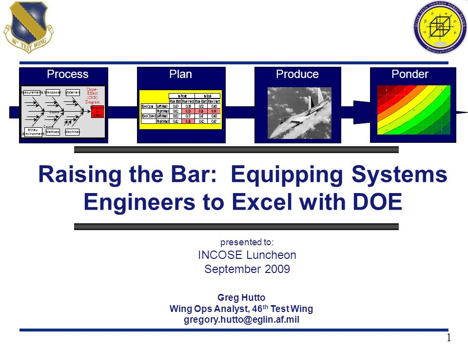 Raising the Bar: Equipping Systems Engineers to Excel with DOE