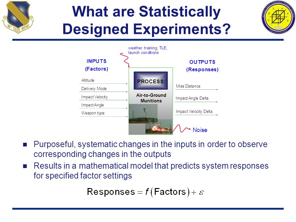 What are Statistically Designed Experiments