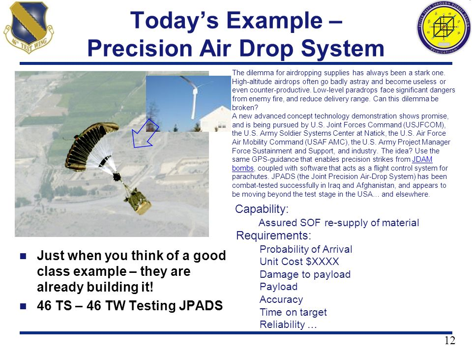 Today's Example – Precision Air Drop System