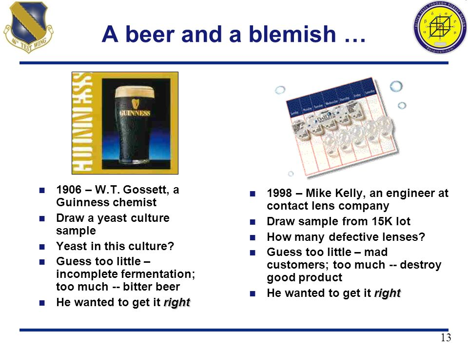 A beer and a blemish … 1906 – W.T. Gossett, a Guinness chemist