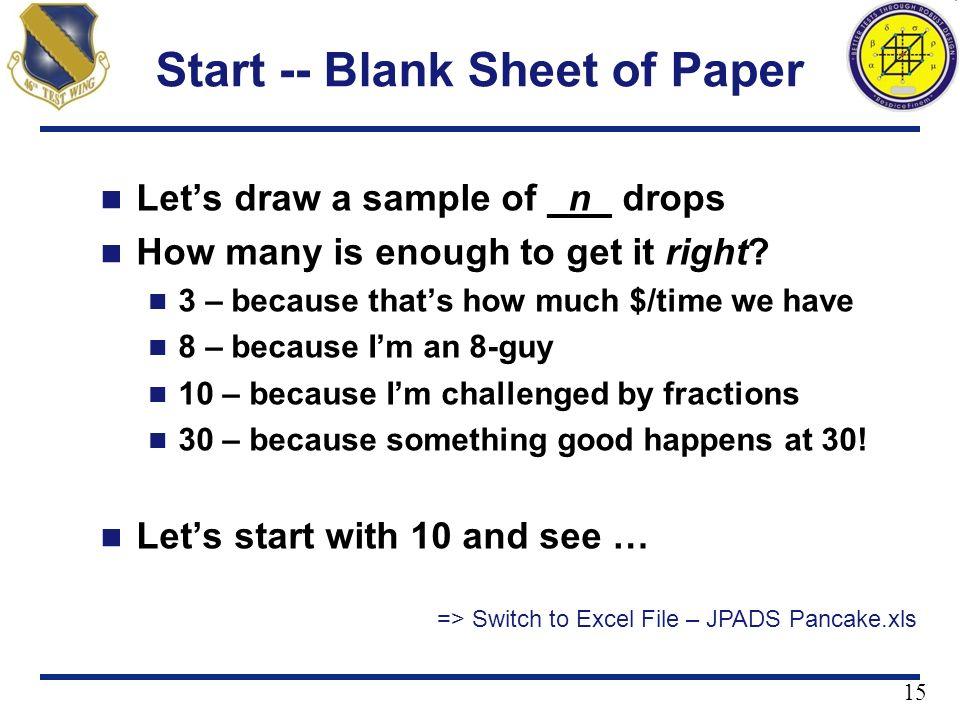 Start -- Blank Sheet of Paper