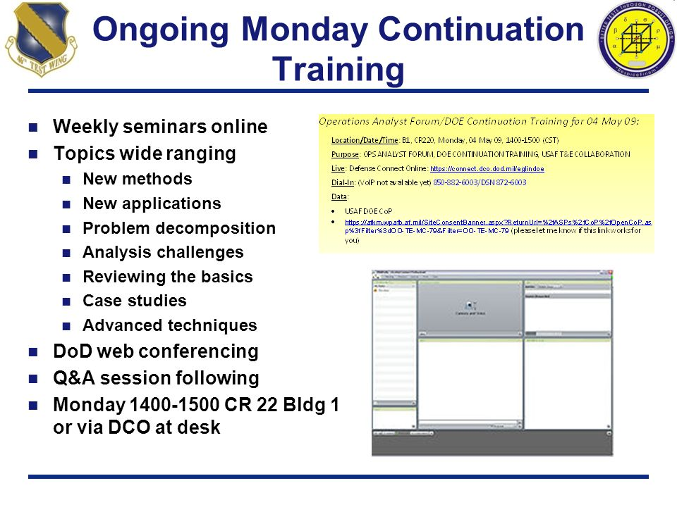 Ongoing Monday Continuation Training