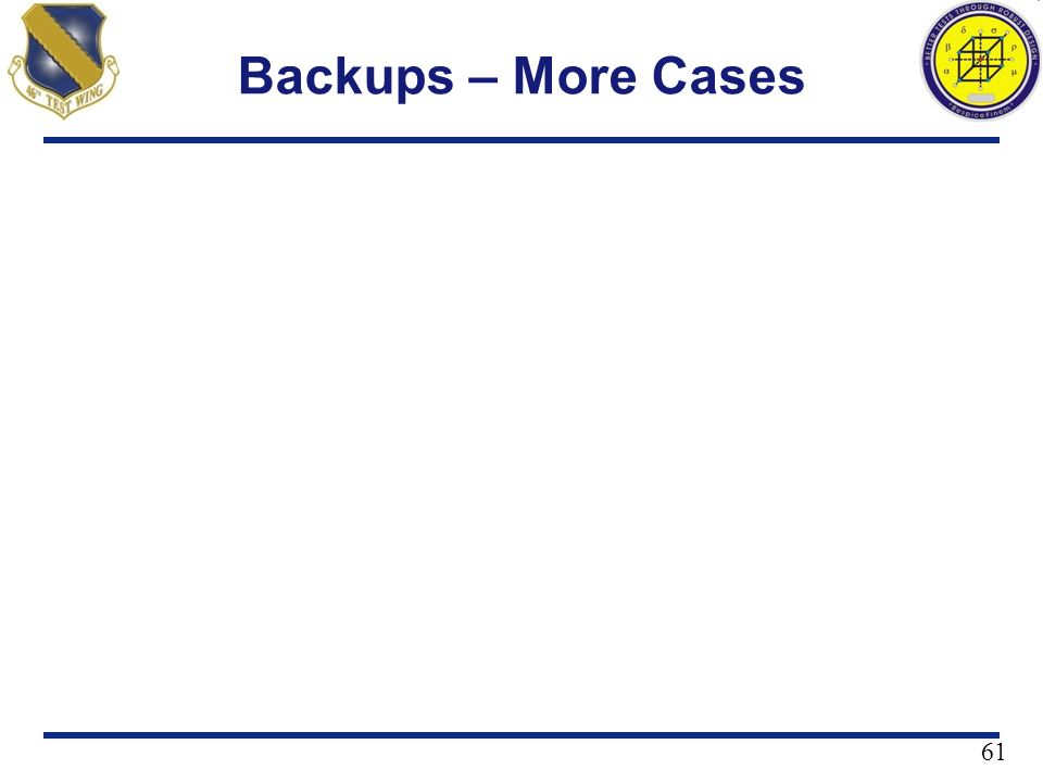 Backups – More Cases
