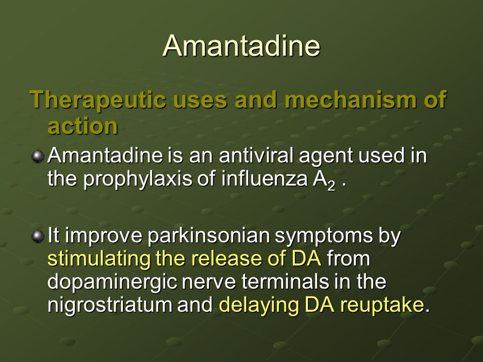 Risks Of Amantadine Poisoning