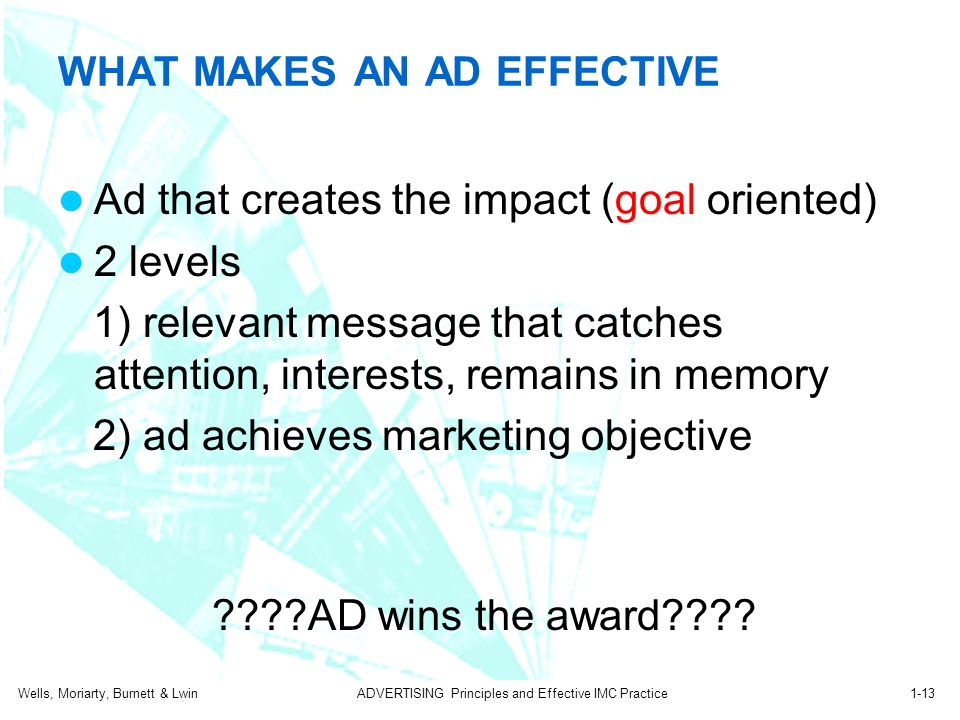 what makes advertising effective In one sentence – a clear and concise message that drives the listener to do what you ask of them makes a radio commercial effective vague: yes, true: very.