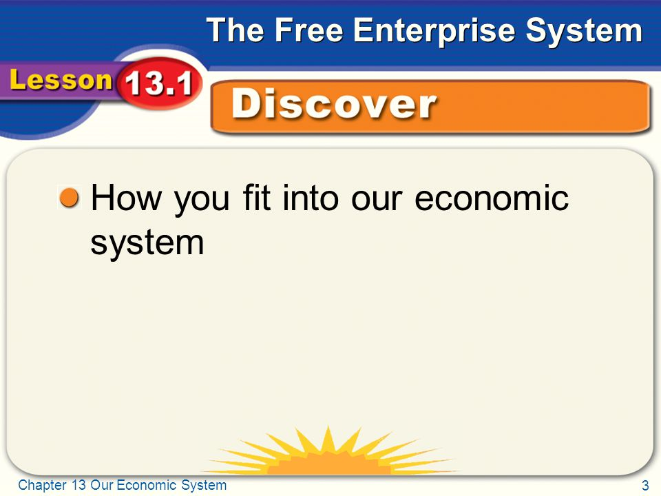 How you fit into our economic system